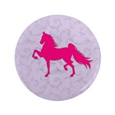 "Cool Saddlebred 3.5"" Button"