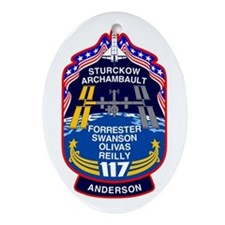 STS 117 Oval Ornament