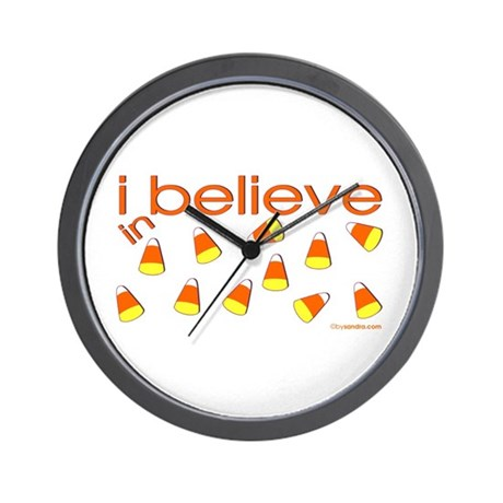 I believe in Candy Corn Wall Clock