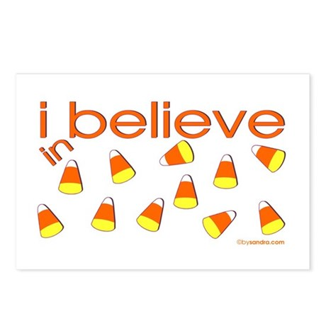 I believe in Candy Corn Postcards (Package of 8)