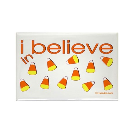 I believe in Candy Corn Rectangle Magnet (10 pack)