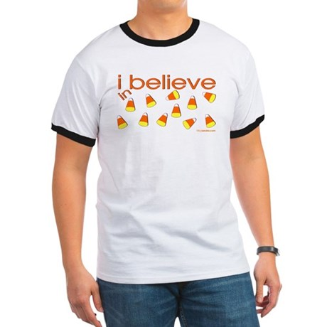 I believe in Candy Corn Ringer T