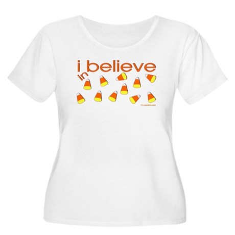 I believe in Candy Corn Women's Plus Size Scoop Ne