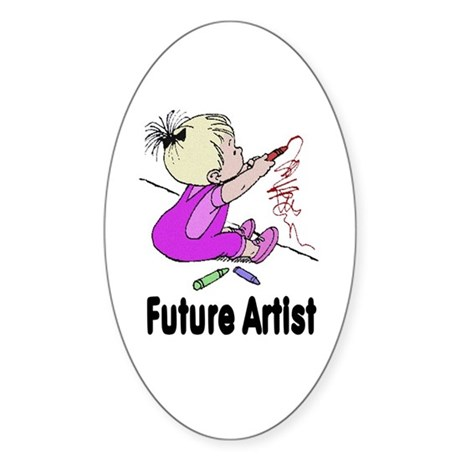 Future Artist Oval Sticker