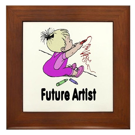 Future Artist Framed Tile