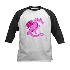 Kids Pink Dragon Baseball Jersey