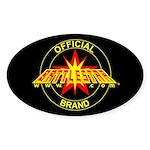 Official Battlestarr Brand Oval Sticker