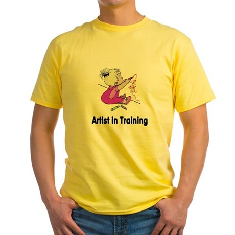 Artist in Training Yellow T-Shirt