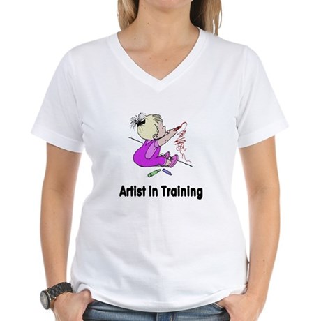 Artist in Training Women's V-Neck T-Shirt