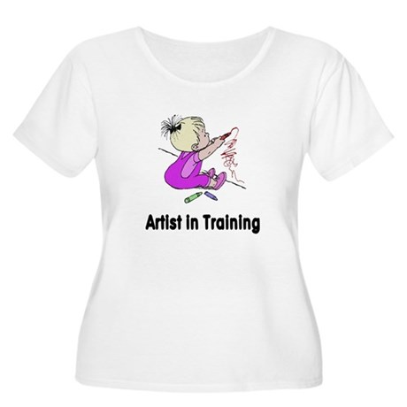 Artist in Training Women's Plus Size Scoop Neck T-