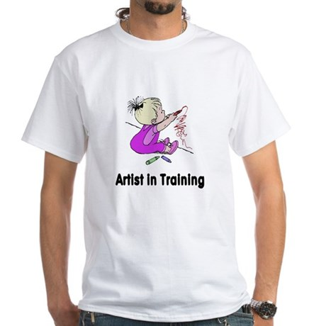 Artist in Training White T-Shirt