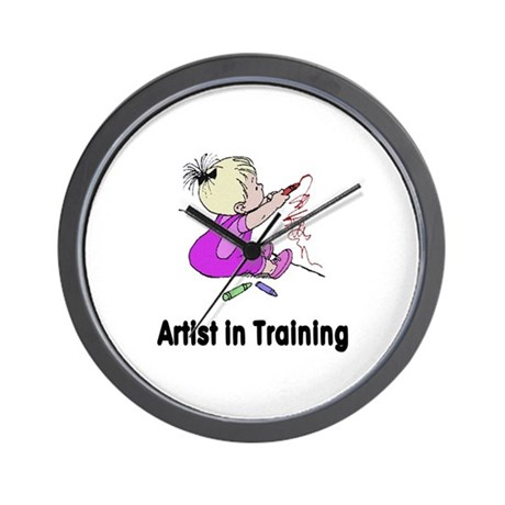 Artist in Training Wall Clock