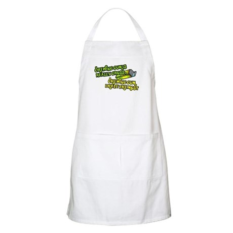 Chewing gum is really gross BBQ Apron