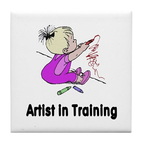 Artist in Training Tile Coaster