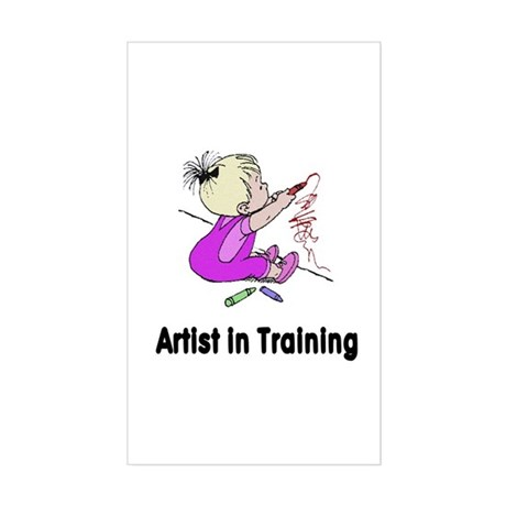 Artist in Training Rectangle Sticker
