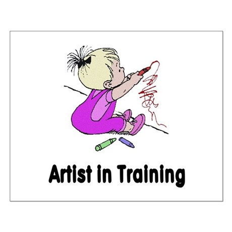 Artist in Training Small Poster
