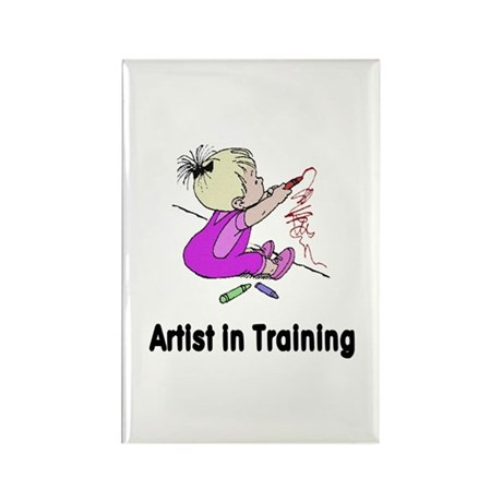 Artist in Training Rectangle Magnet