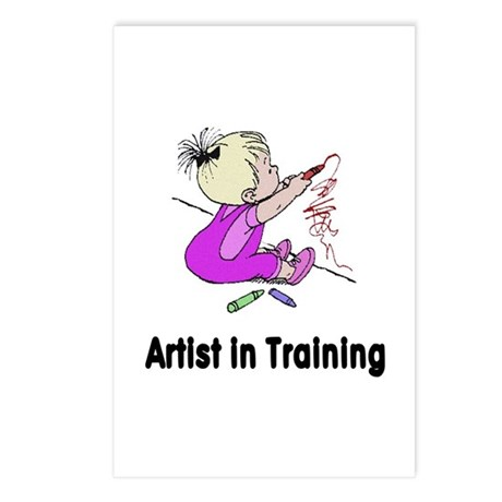 Artist in Training Postcards (Package of 8)
