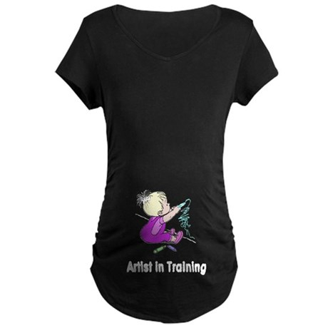 Artist in Training Maternity Dark T-Shirt