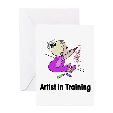 Artist in Training Greeting Card