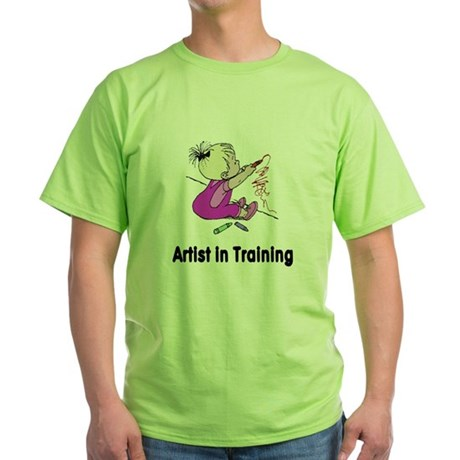 Artist in Training Green T-Shirt
