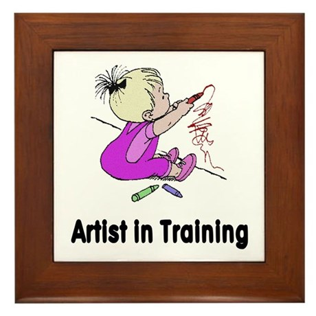 Artist in Training Framed Tile
