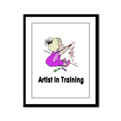 Artist in Training Framed Panel Print