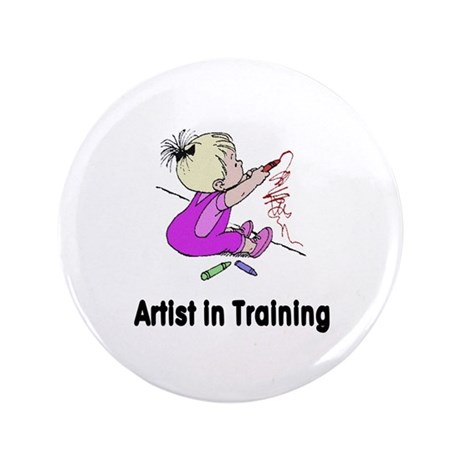 "Artist in Training 3.5"" Button"