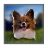 Papillon 2 Tile Coaster