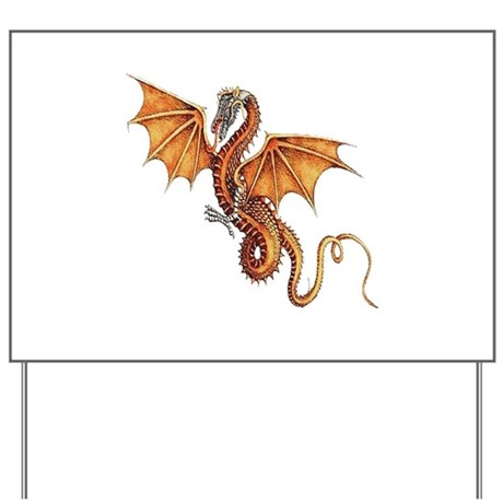 Fantasy Dragon Yard Sign