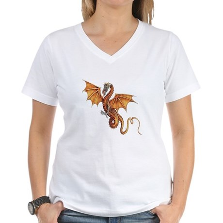 Fantasy Dragon Women's V-Neck T-Shirt