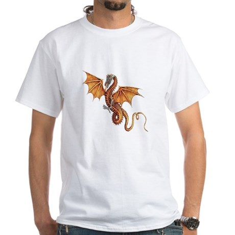 Fantasy Dragon White T-Shirt