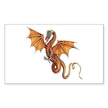 Fantasy Dragon Rectangle Sticker