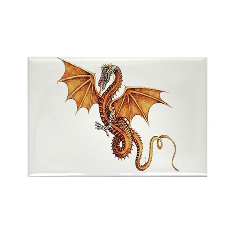 Fantasy Dragon Rectangle Magnet (10 pack)