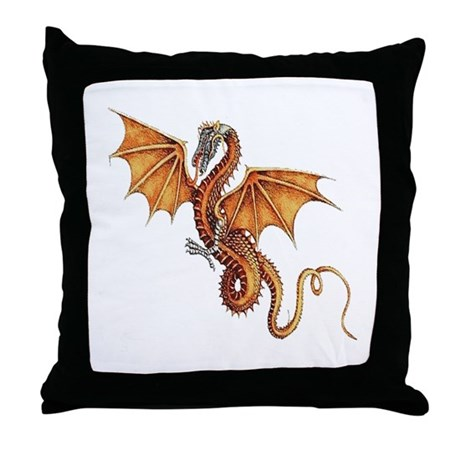 Fantasy Dragon Throw Pillow