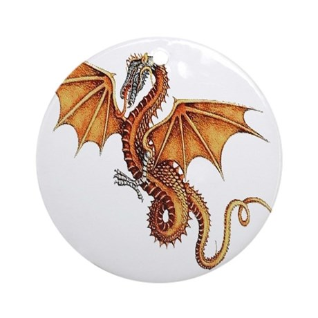 Fantasy Dragon Ornament (Round)