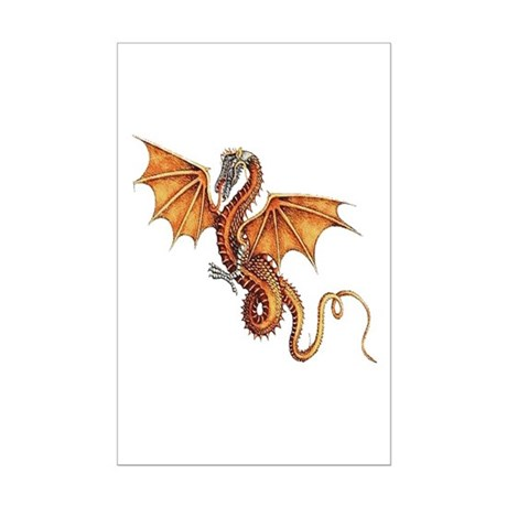 Fantasy Dragon Mini Poster Print