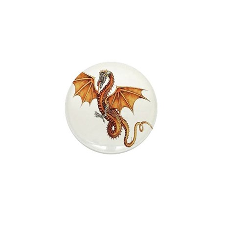 Fantasy Dragon Mini Button