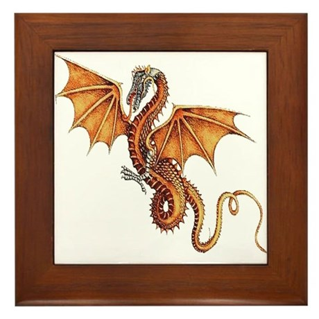 Fantasy Dragon Framed Tile