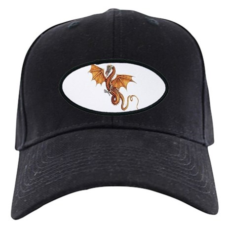 Fantasy Dragon Black Cap