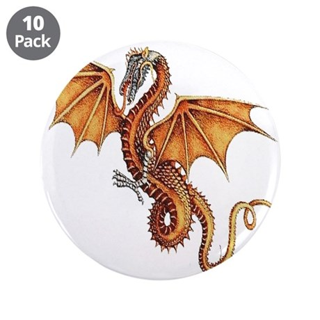 "Fantasy Dragon 3.5"" Button (10 pack)"
