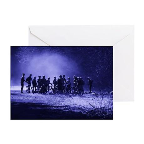 Mist Bikers Greeting Cards (Pk of 10)