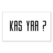 Kas Yra ? Rectangle Decal