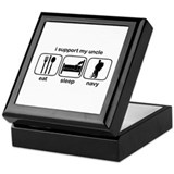 Eat Sleep Navy - Support Uncle Keepsake Box