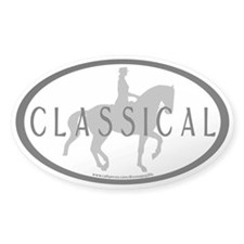 Piaffe Rider w/ CLASSICAL Text Oval Decal