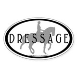 Piaffe Rider w/ DRESSAGE Text Oval Decal