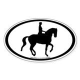 Piaffe Dressage Horse &amp; Rider Oval Decal