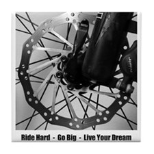Mountain Biker's Disk Tile Coaster