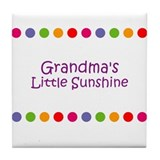Grandma's Little Sunshine Tile Coaster