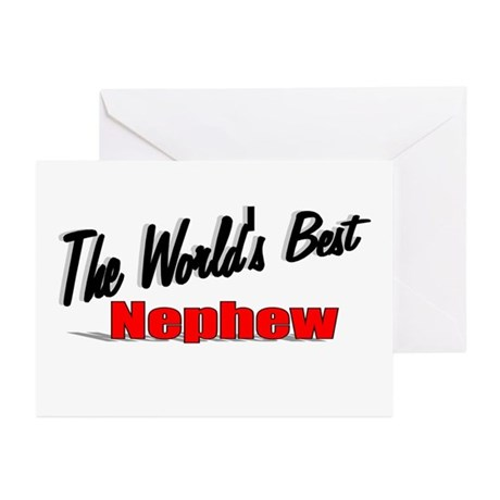 &quot;The World's Best Nephew&quot; Greeting Cards (Pk of 10